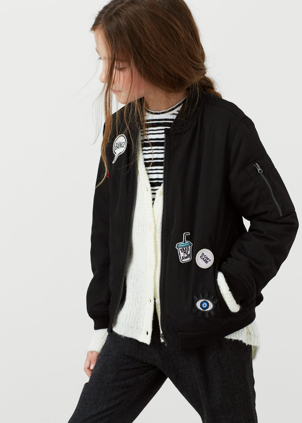 Patched bomber | MANGO KIDS