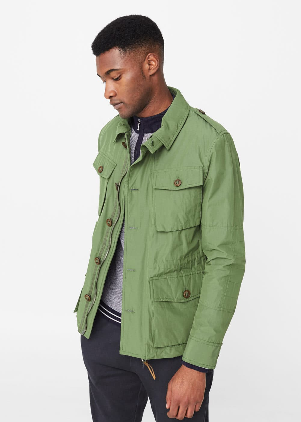 Field jacket algodón nylon | MANGO MAN