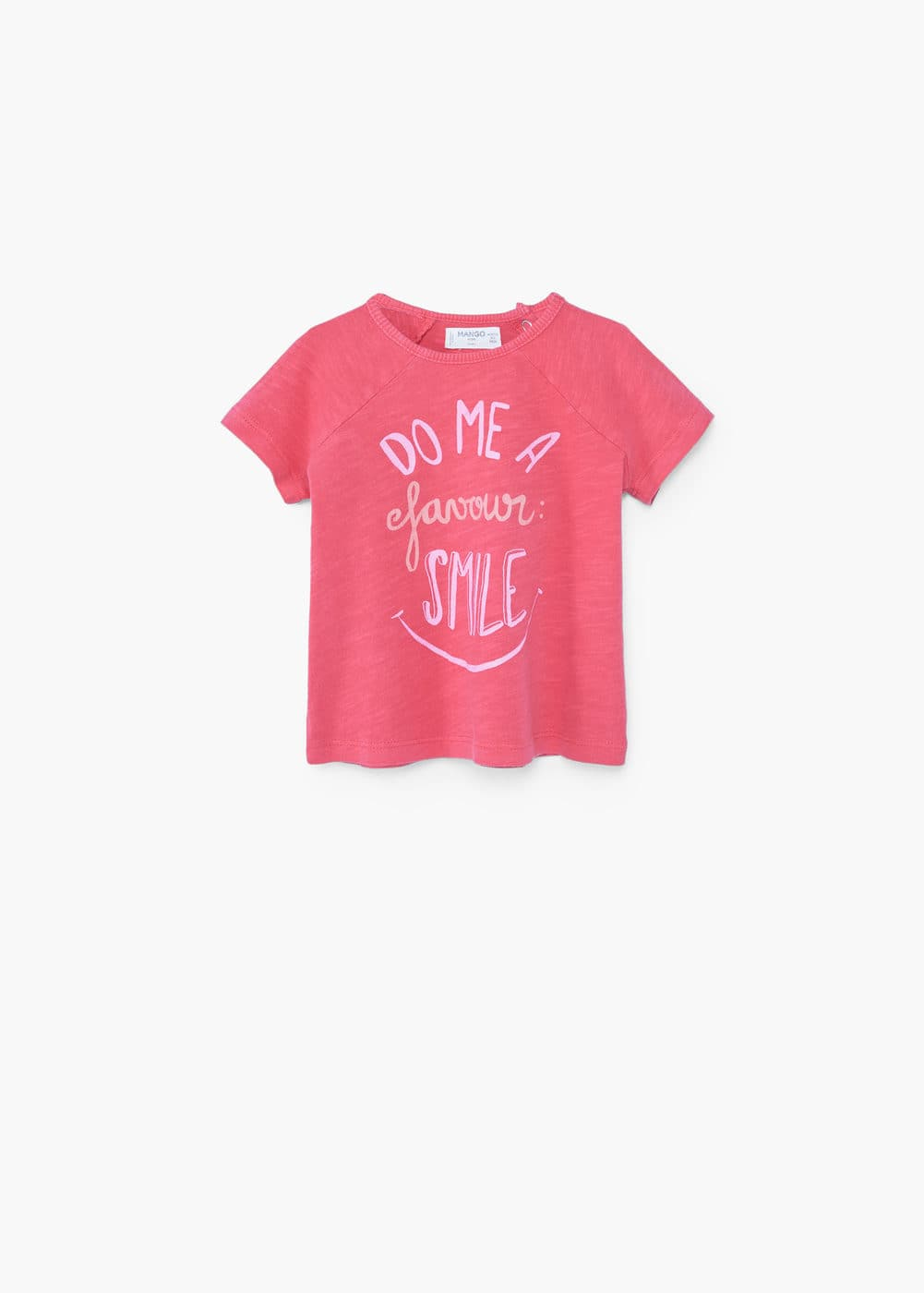 Print flecked t-shirt | MANGO KIDS