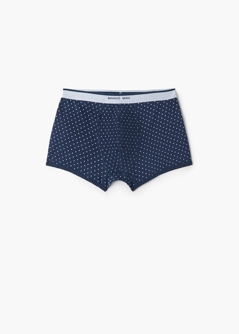 Polka-dot cotton boxer shorts | MANGO MAN