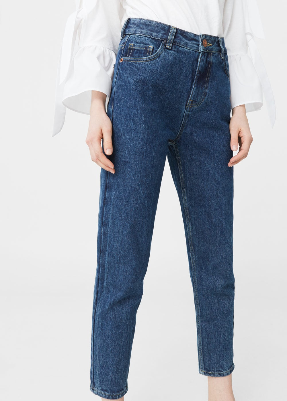 Jeans relaxed crop mom | MANGO