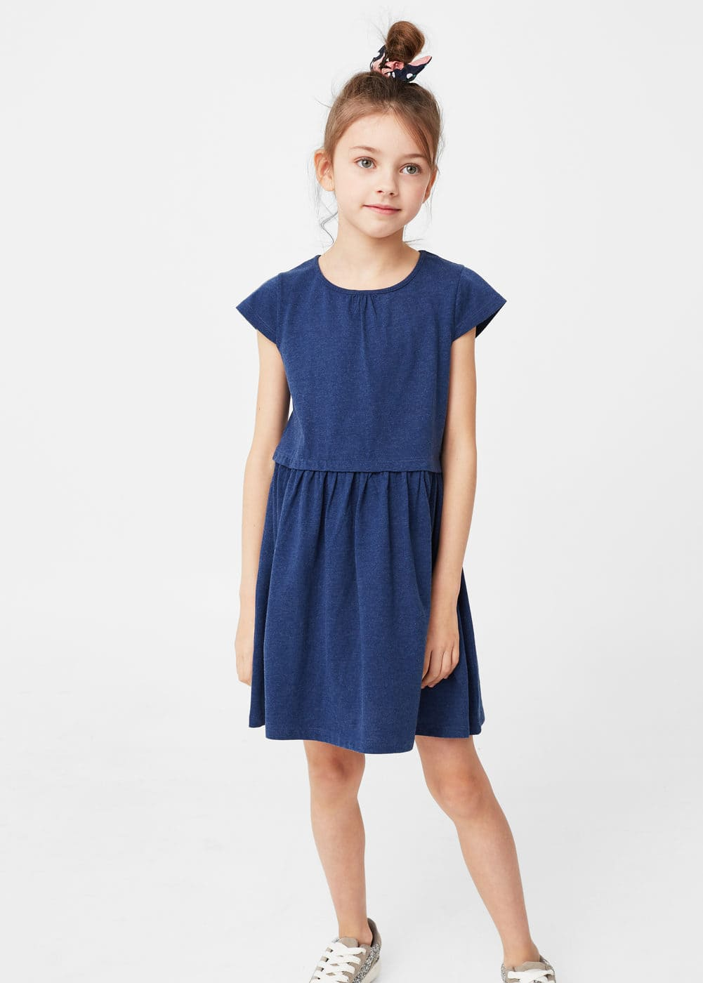 Cotton-blend dress | MANGO