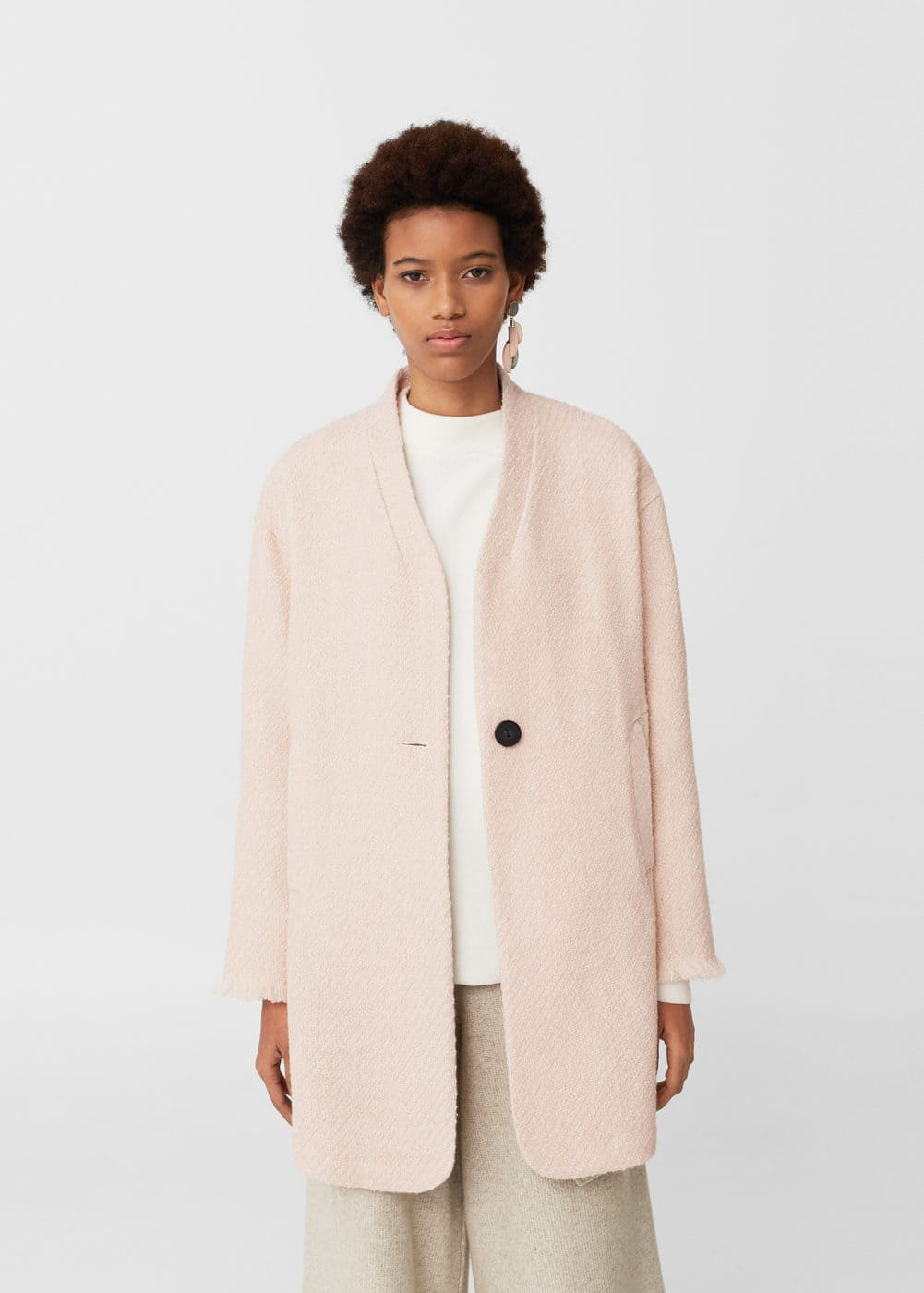 Unstructured wool coat | MANGO