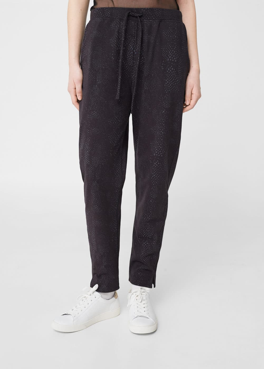 Cotton baggy trousers | MANGO