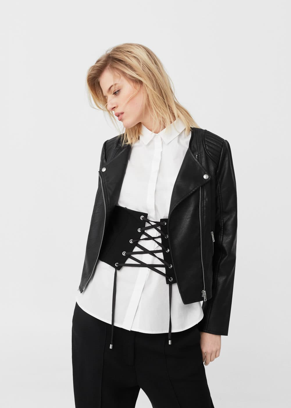 Zipped biker jacket | MNG