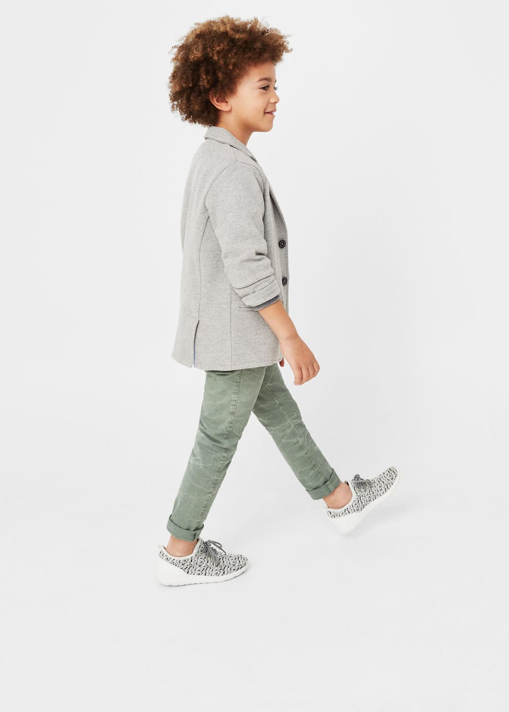 Textured cotton blazer | MANGO KIDS