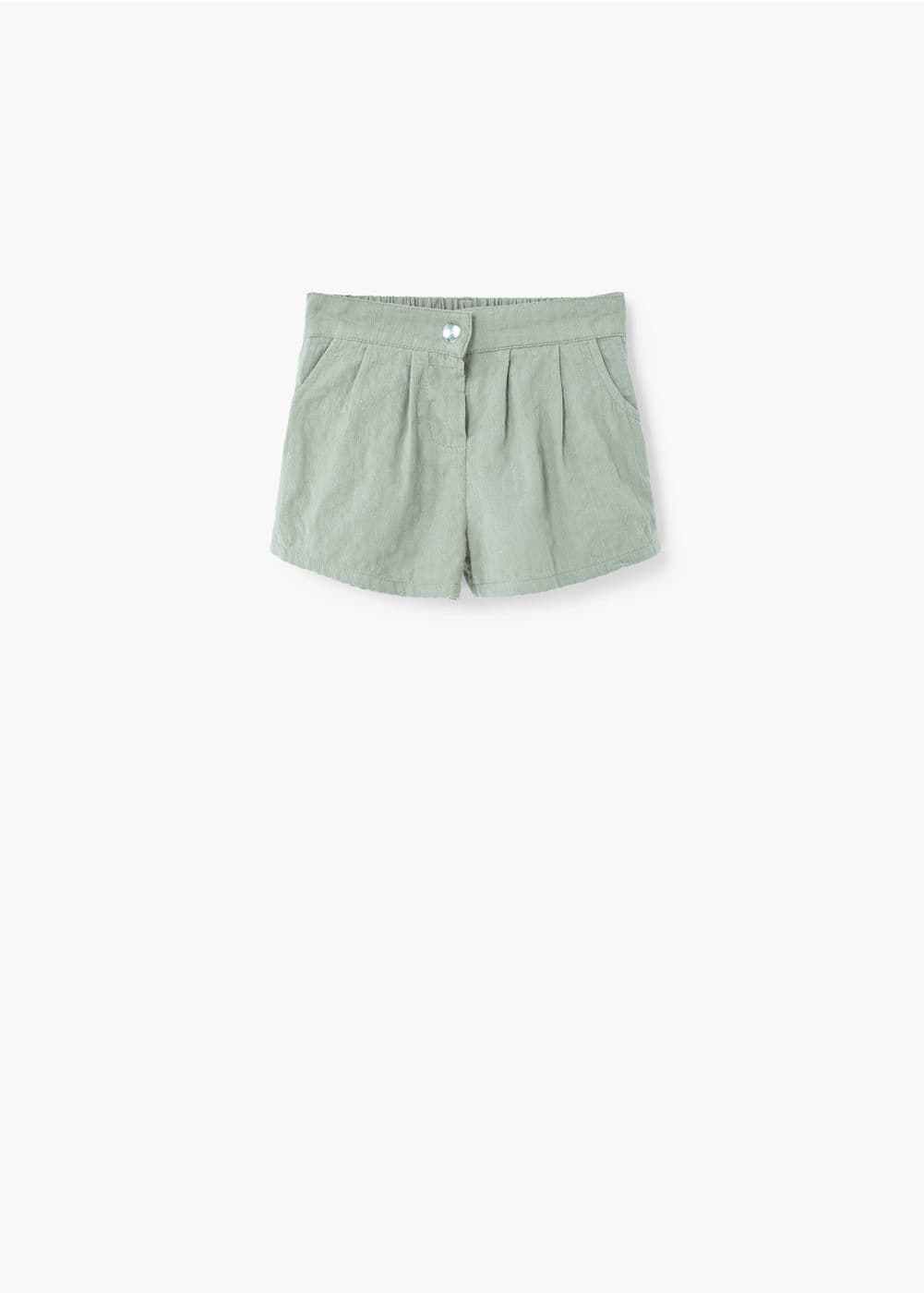 Textured cotton shorts | MANGO KIDS