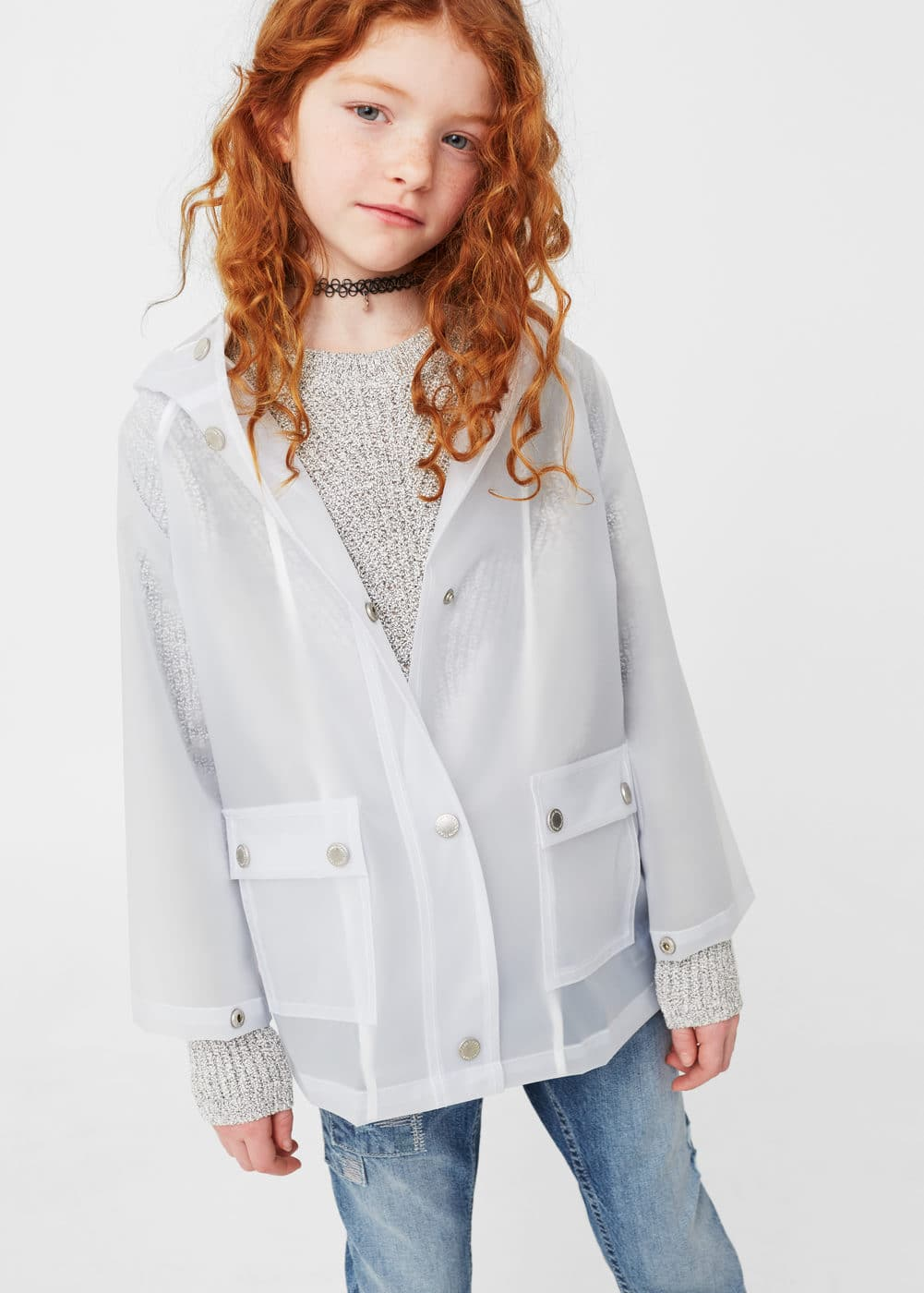 Semitransparent jacket | MANGO KIDS