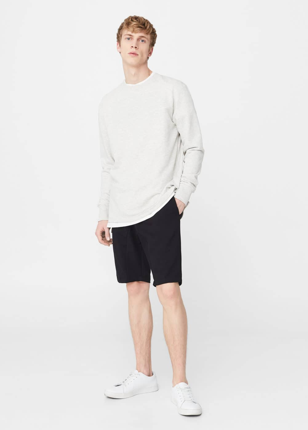 Zip cotton bermuda shorts | MANGO MAN