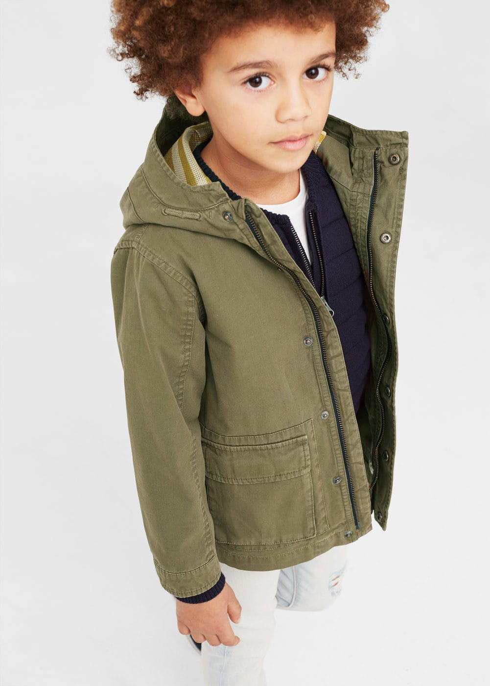 Pocket cotton jacket | MANGO KIDS