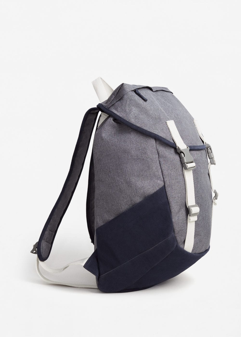 Lapel mixed backpack | MANGO MAN
