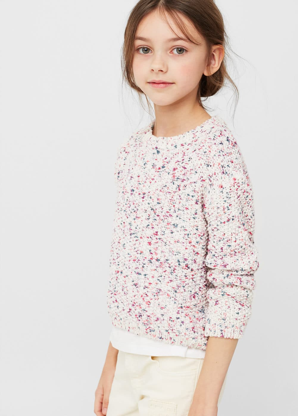 Openwork knit sweater | MANGO KIDS
