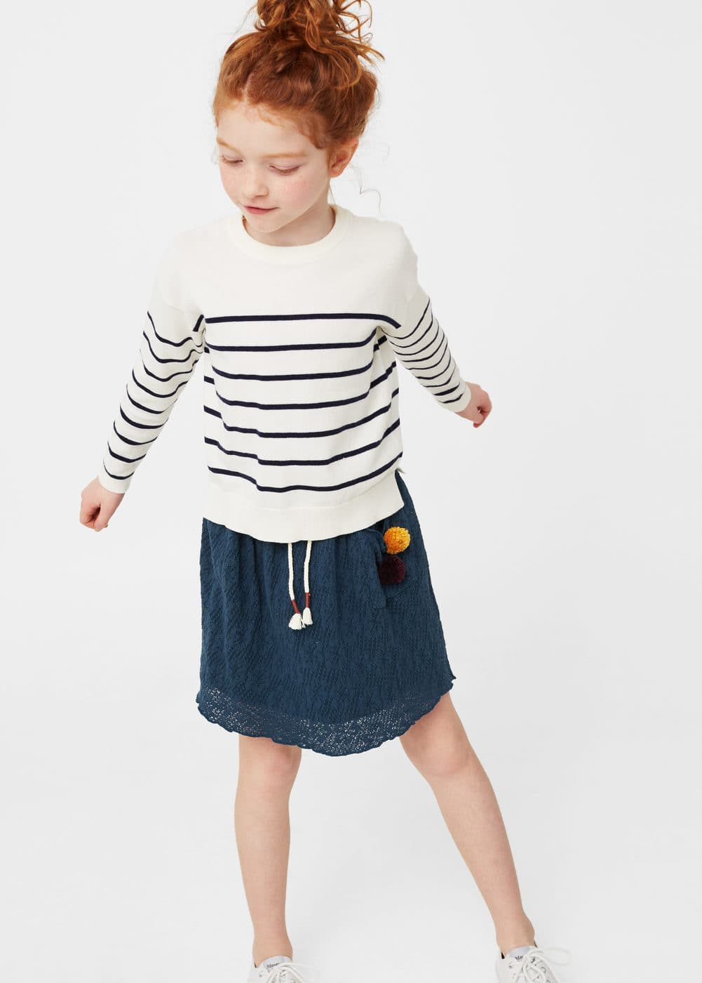Textured flared skirt | MANGO
