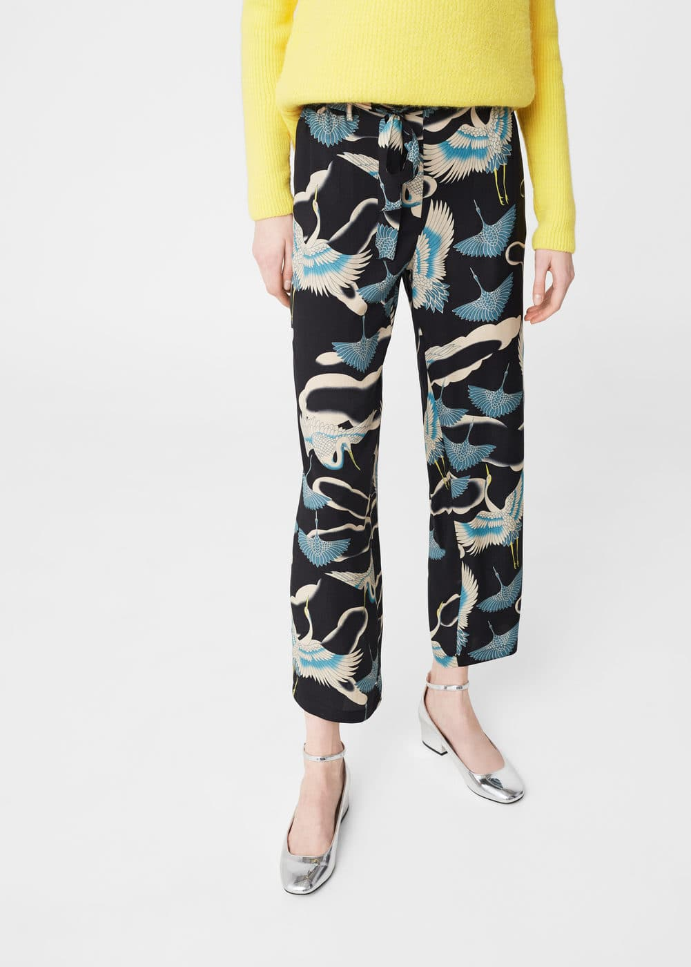 Flowy printed trousers | MNG