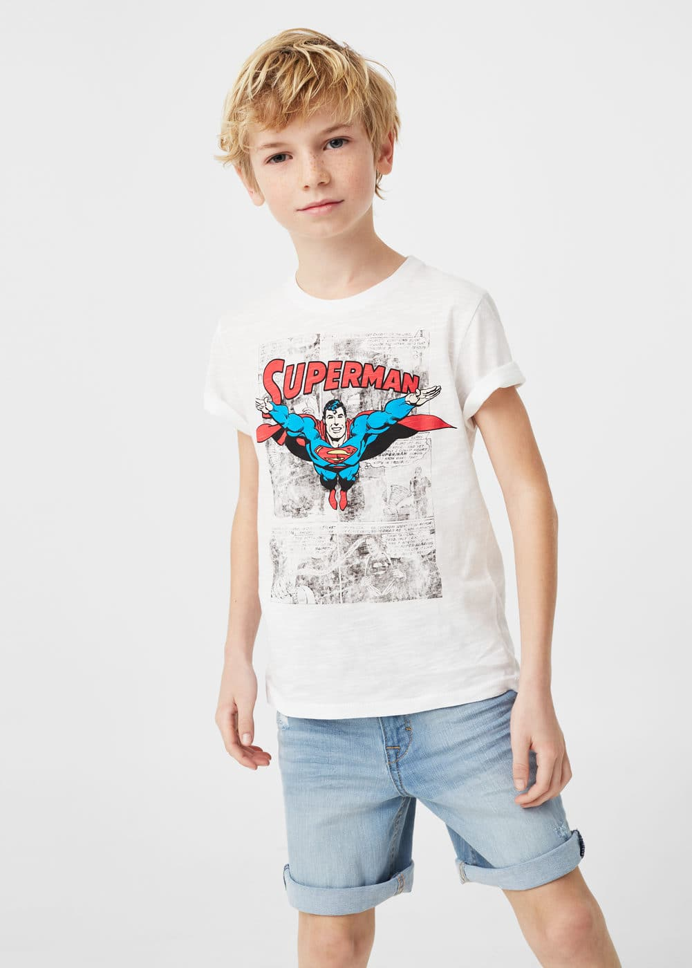 T-shirt aus baumwolle superman | MANGO KIDS