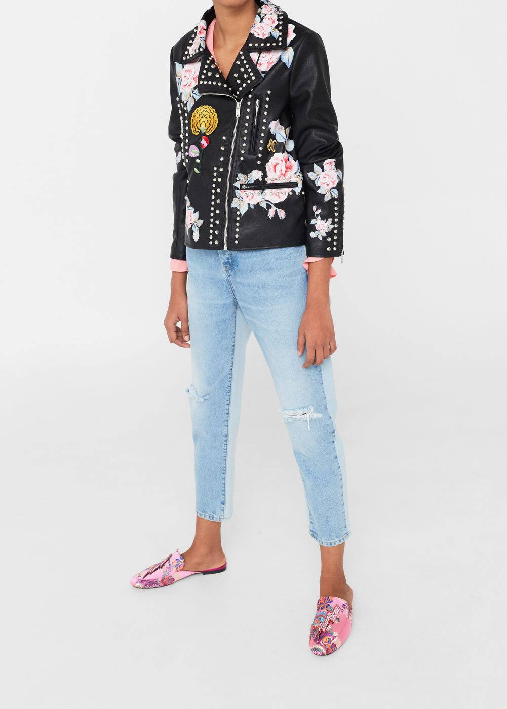 Embroidered stud jacket | MNG
