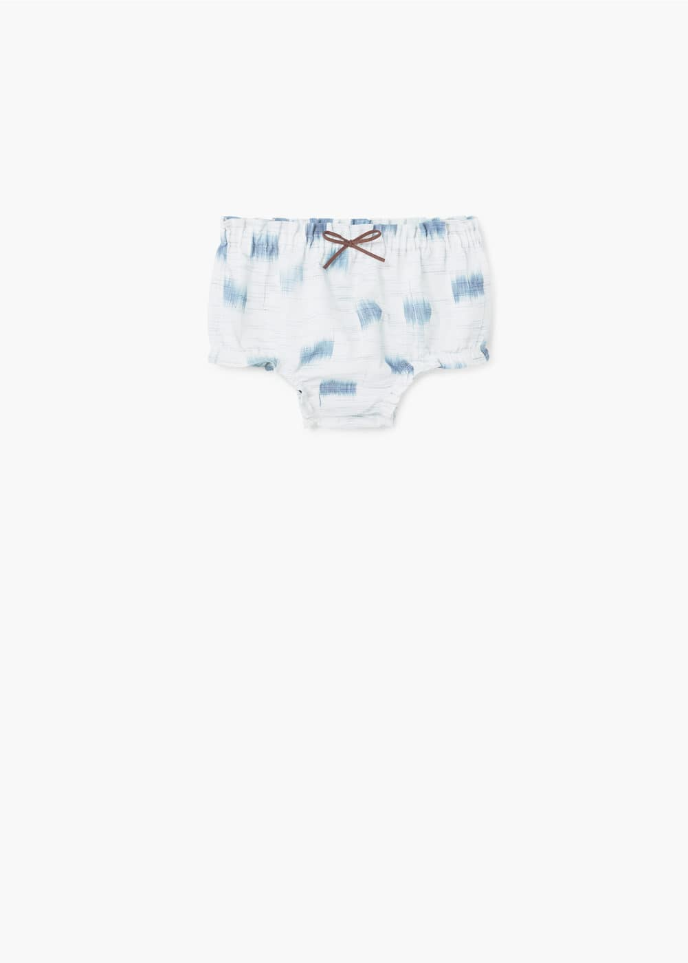 Printed cotton-blend short | MANGO KIDS