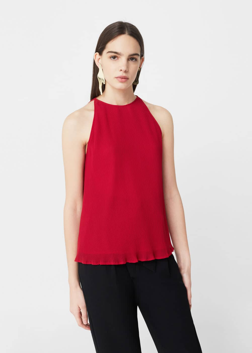 Pleated top | MANGO