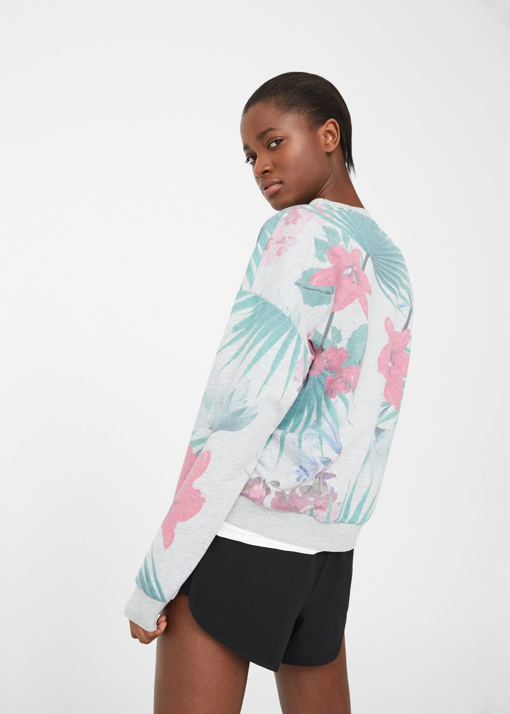 Tropical print sweatshirt | MANGO