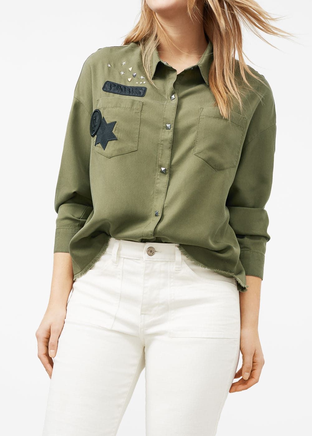 Military shirt | VIOLETA BY MANGO