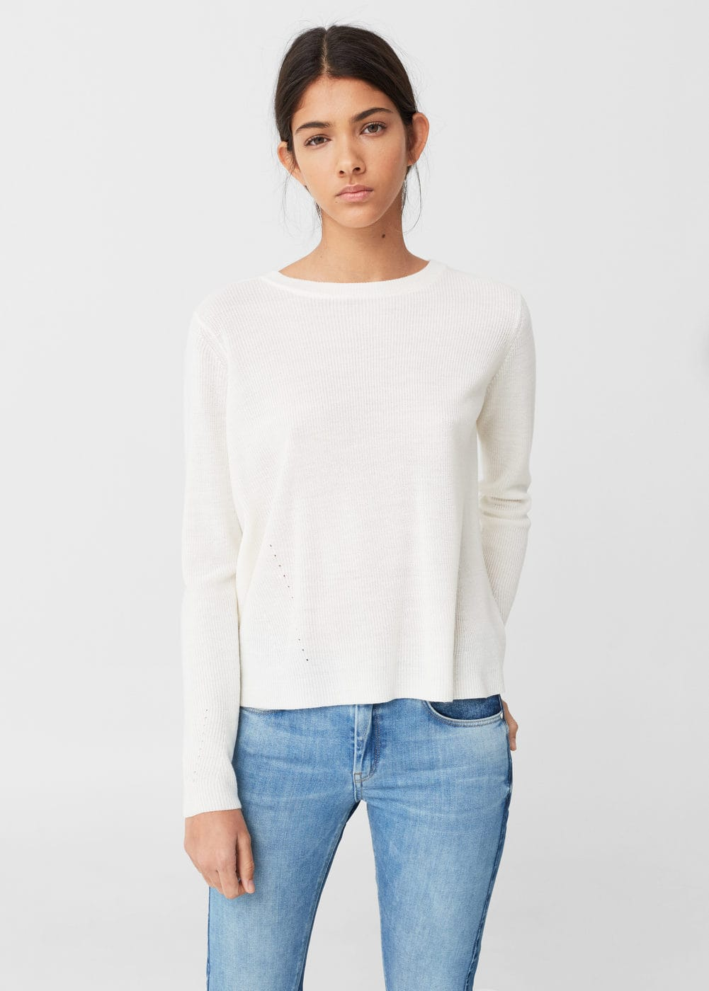 Back vent sweater | MANGO