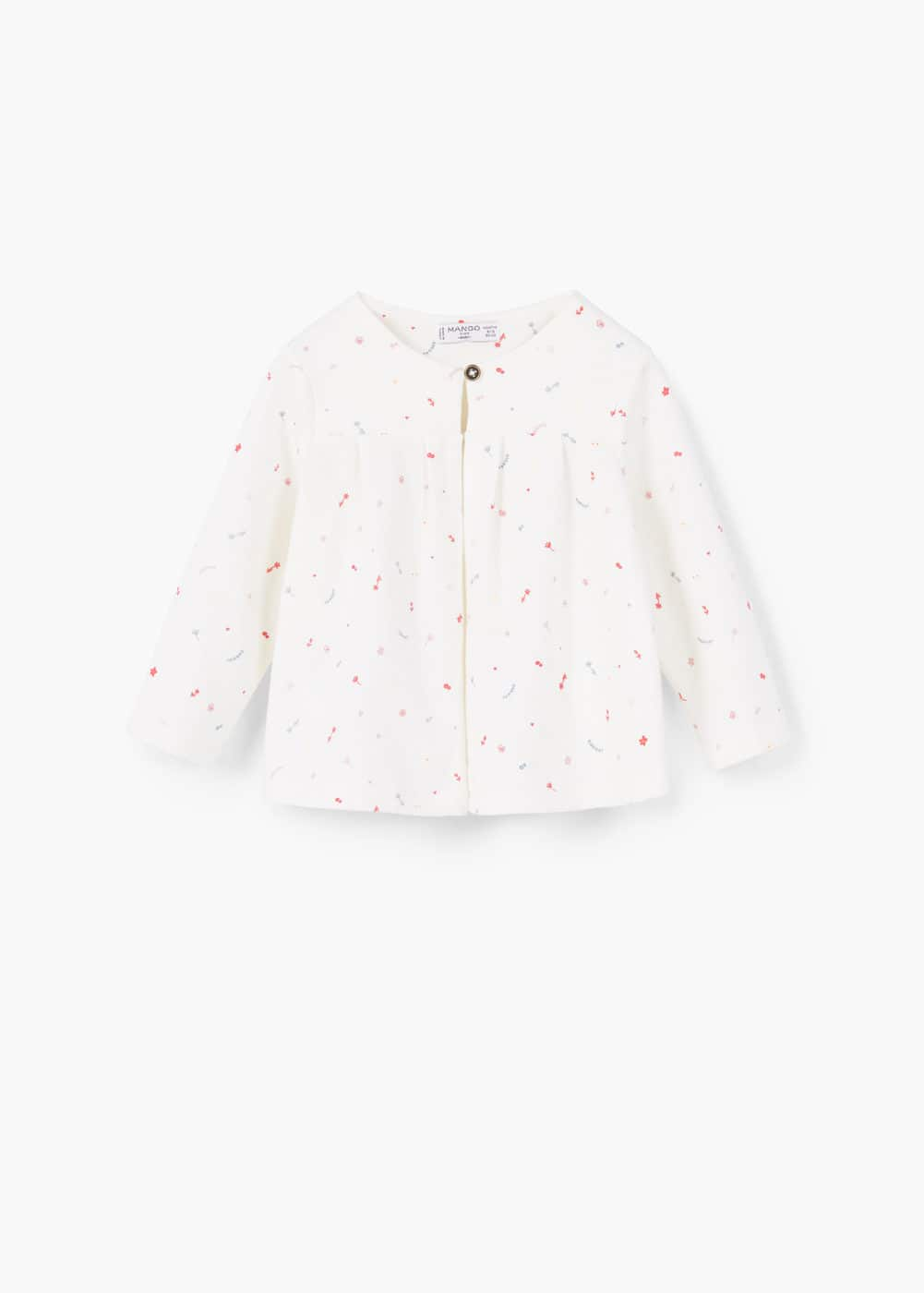 Printed cotton jacket | MANGO KIDS