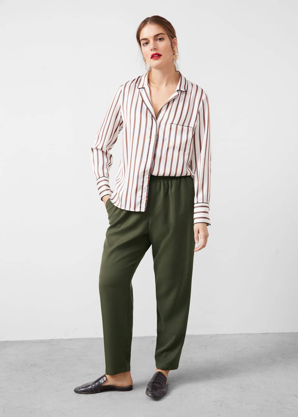 Soft baggy trousers | VIOLETA BY MANGO