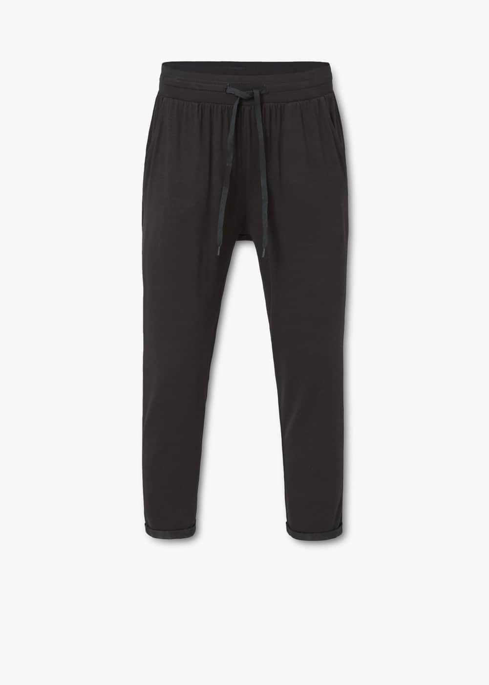 Drawstring baggy trousers | MANGO