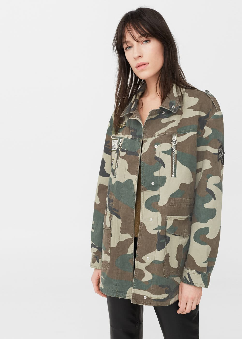 Patched military jacket | MANGO