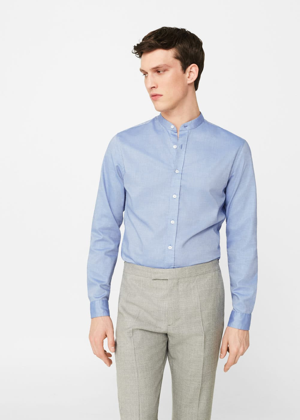 Slim-fit cotton piqué shirt | MANGO