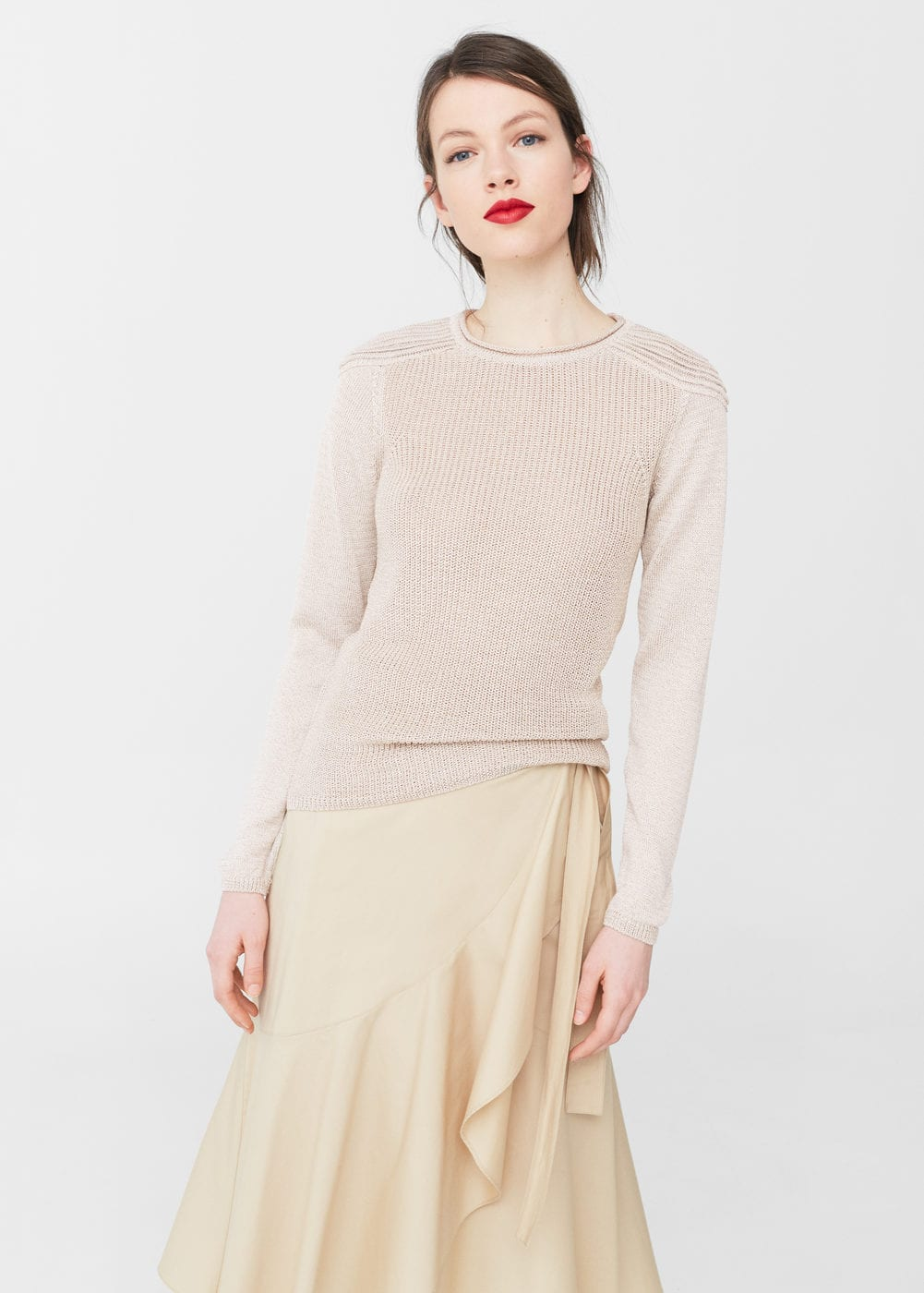 Textured shoulder sweater | MANGO