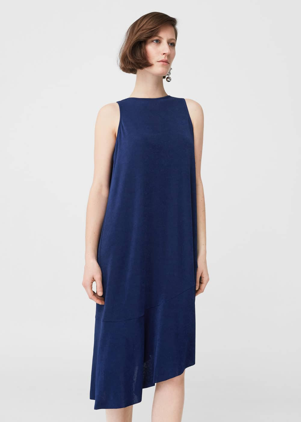 Asymmetric hem dress | MANGO