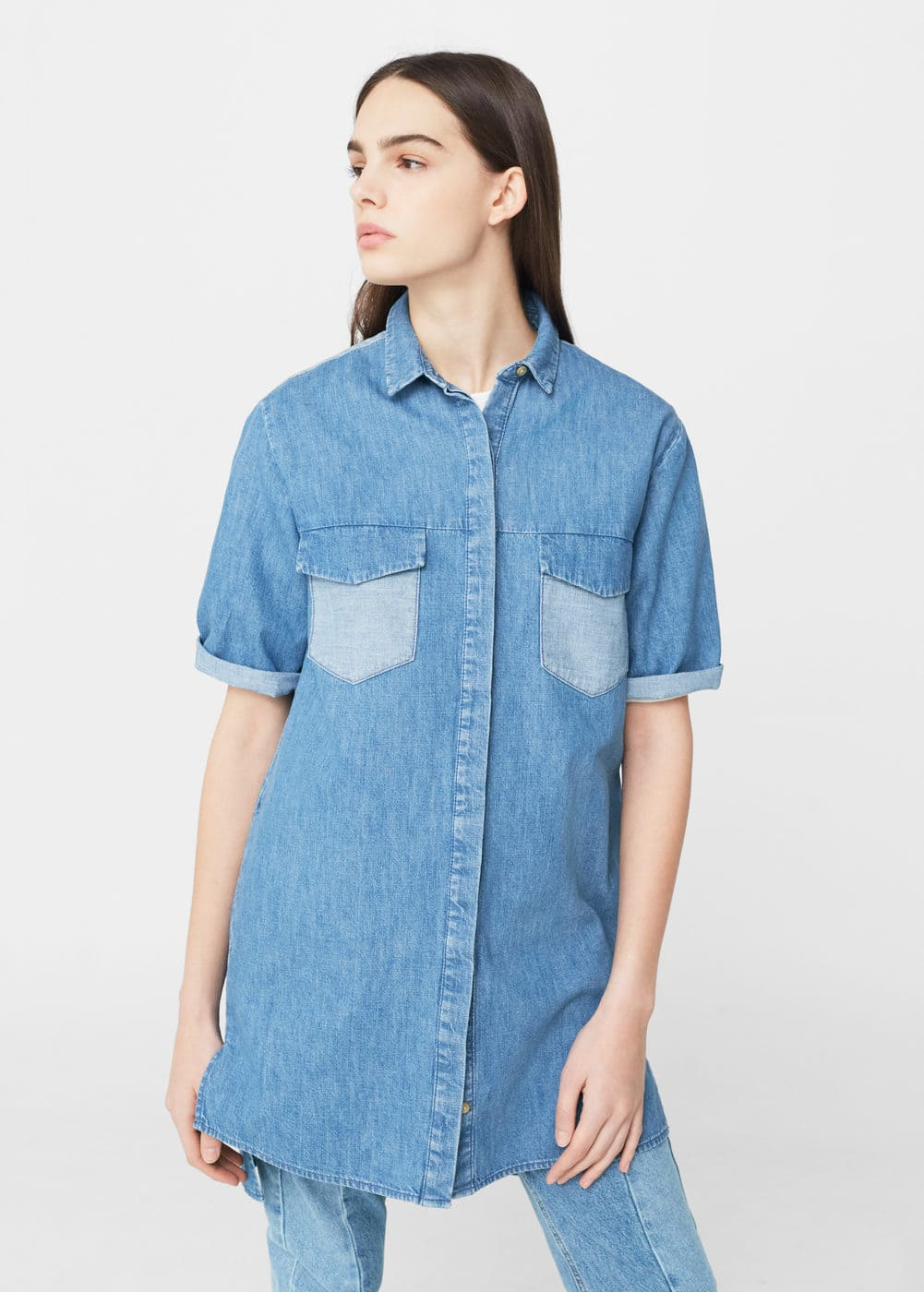 Medium denim shirt | MANGO