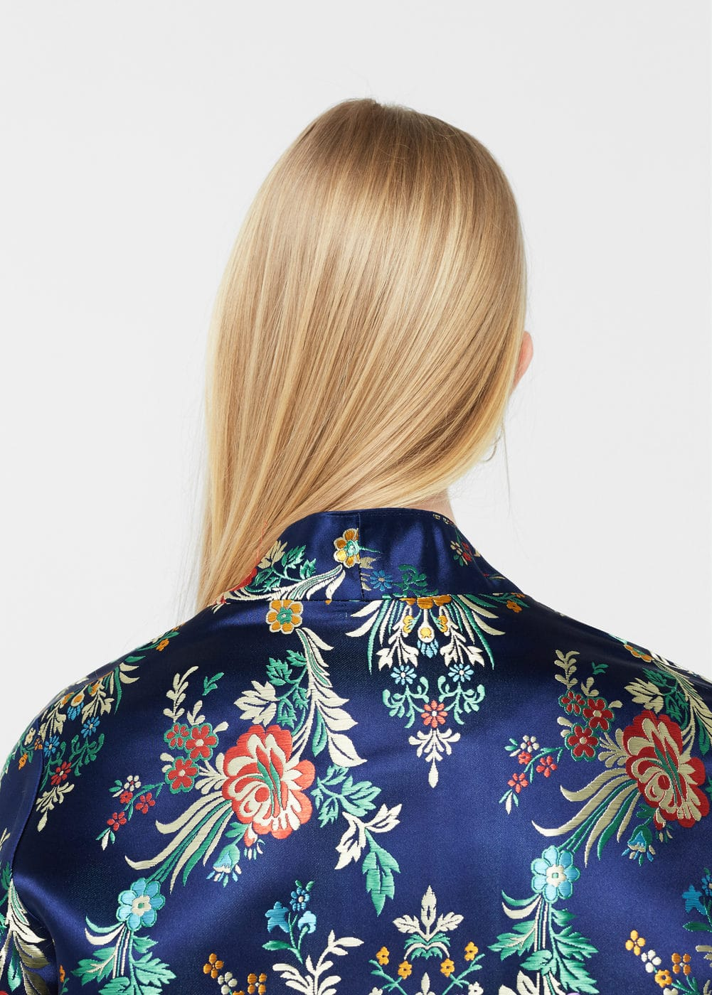 Floral embroidered kimono jacket | MNG