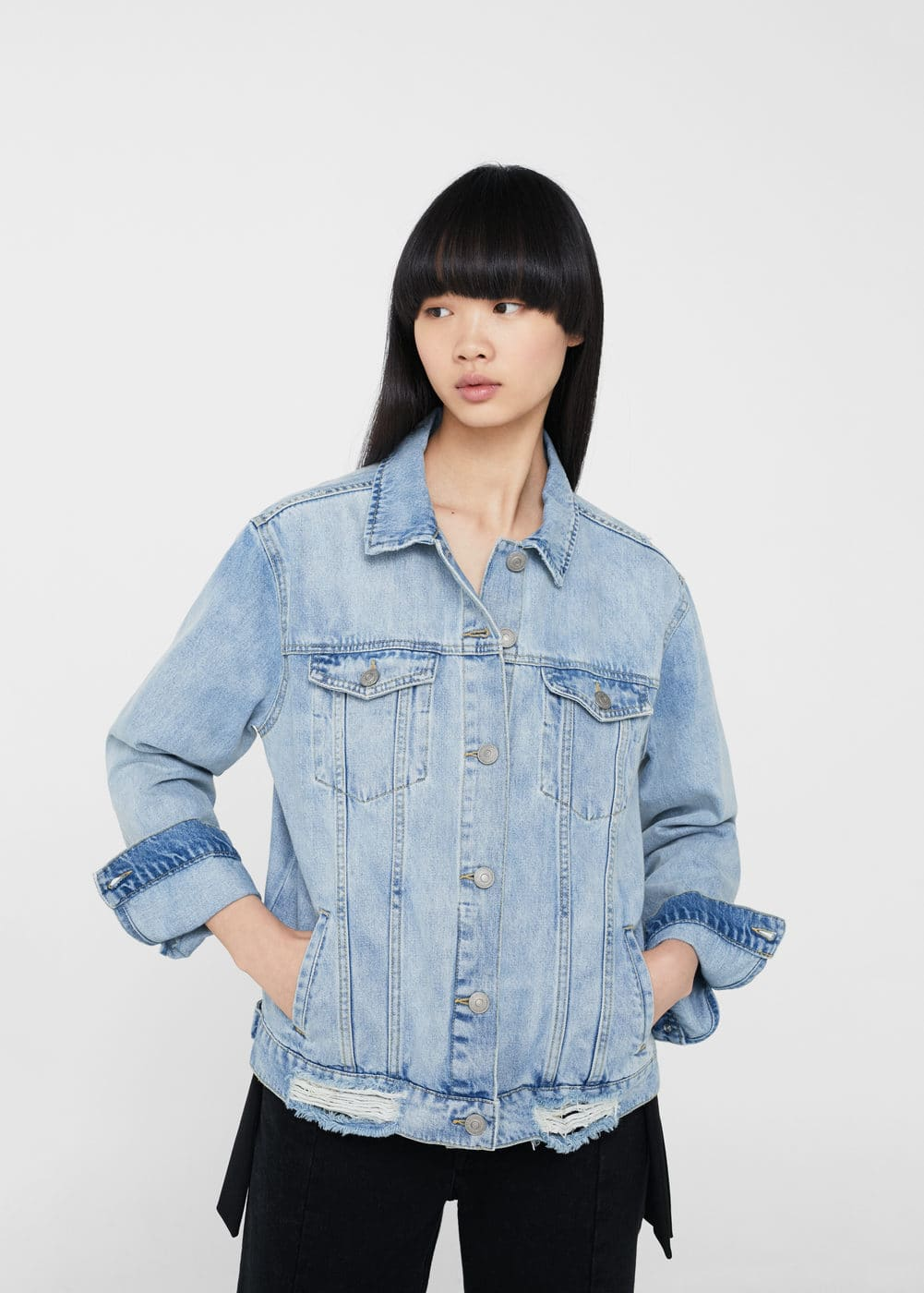 Oversize denim jacket | MANGO