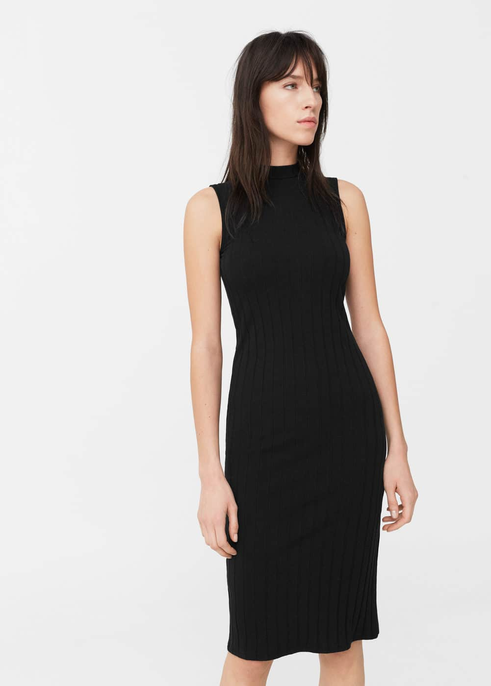 Ribbed cotton dress | MANGO