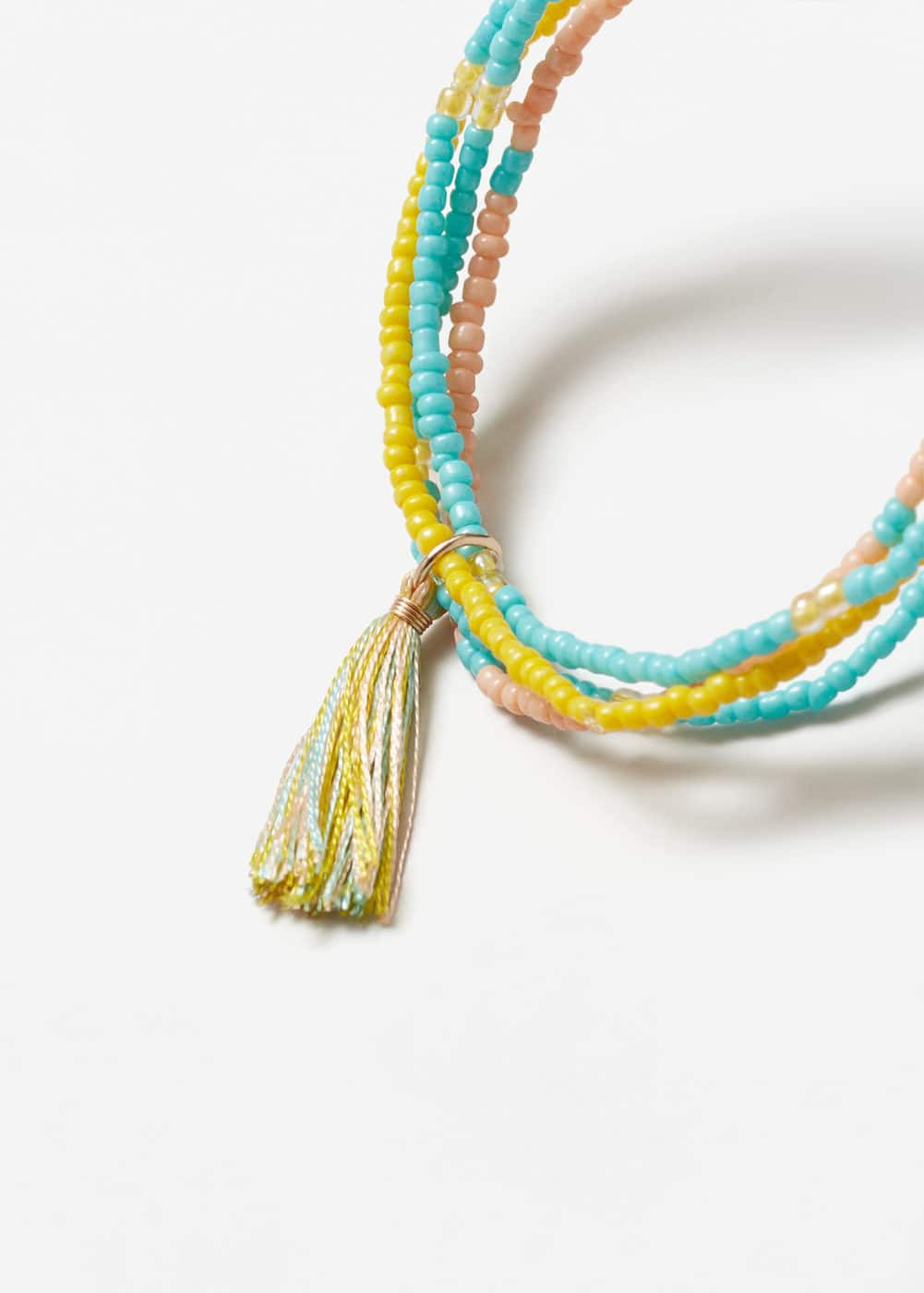 Tassel beaded bracelet | MANGO KIDS