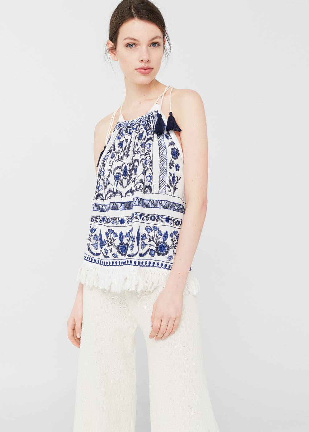 Floral embroidered top | MNG