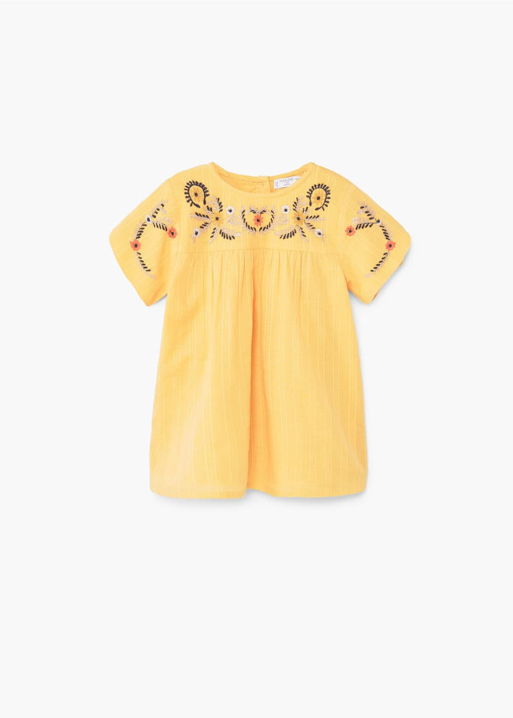 Vestido panel bordado | MANGO KIDS