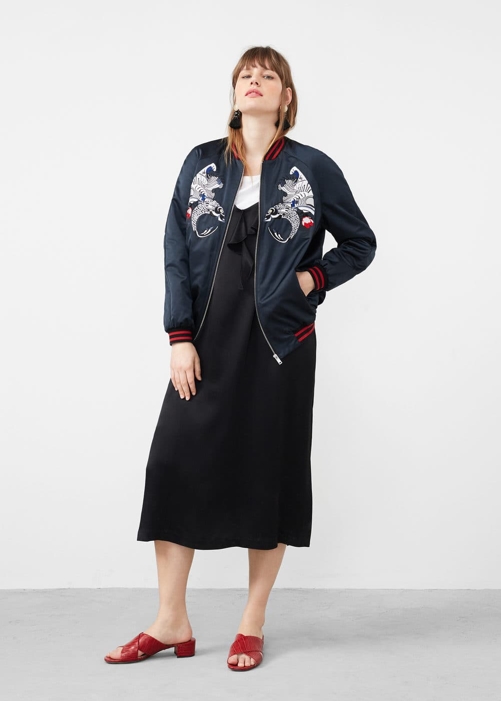 Embroidered bomber | MANGO