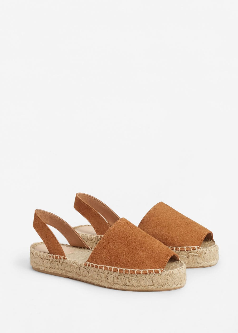 Leather-blend espadrilles | MANGO