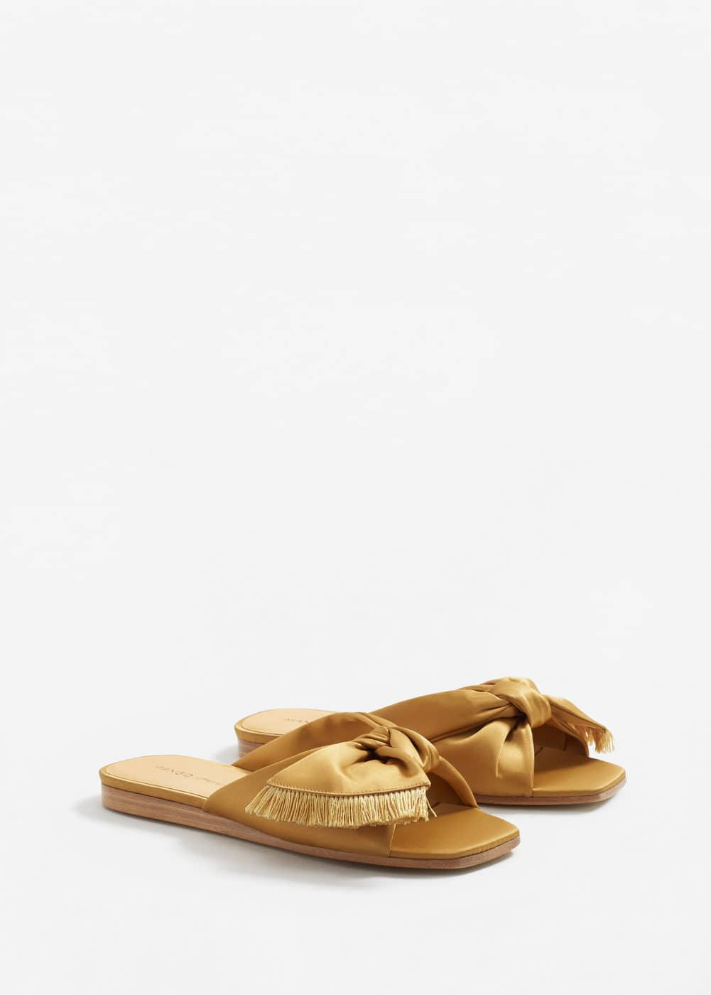 Bow satin sandals | MNG
