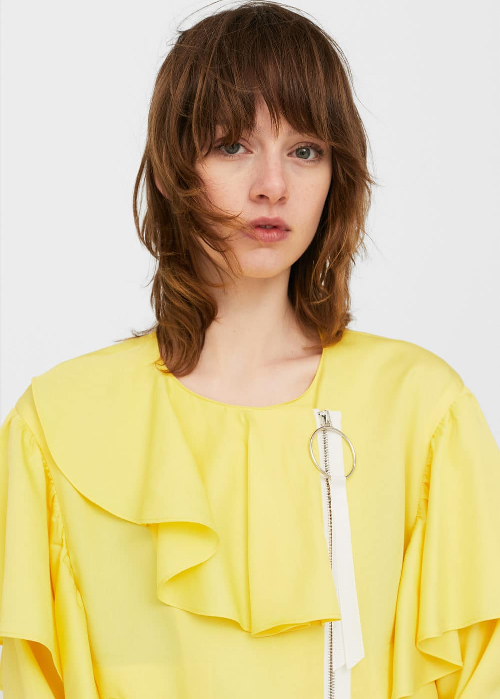 Ruffled ring jacket | MANGO