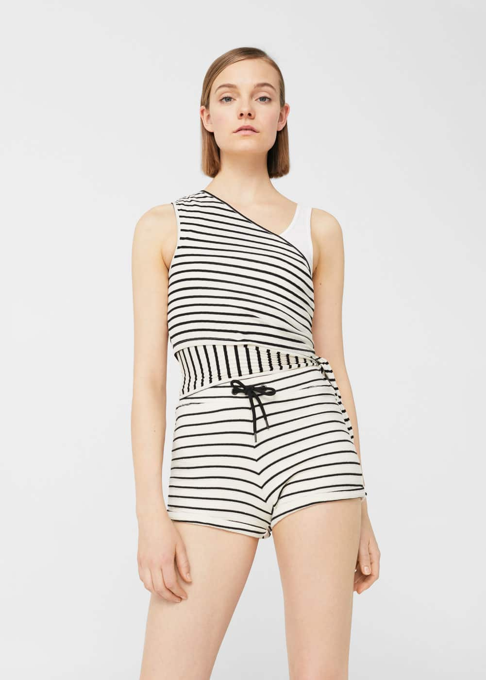 Cotton striped shorts | MANGO