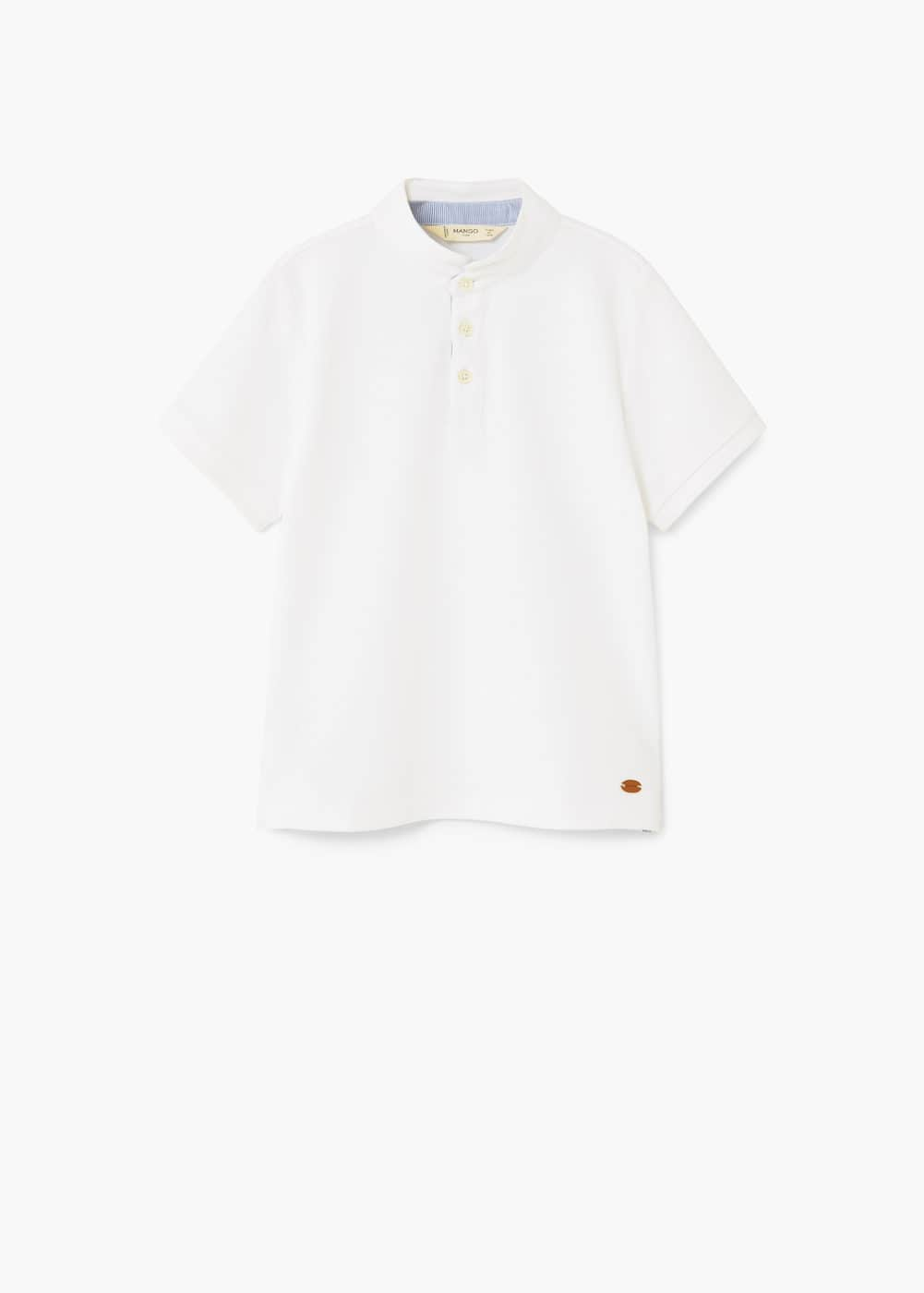 Cotton piqué polo shirt | MANGO KIDS