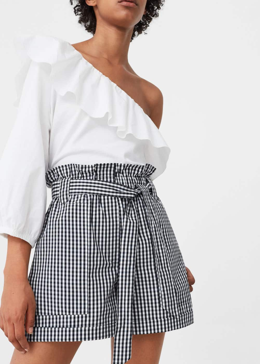 Gingham check shorts | MANGO