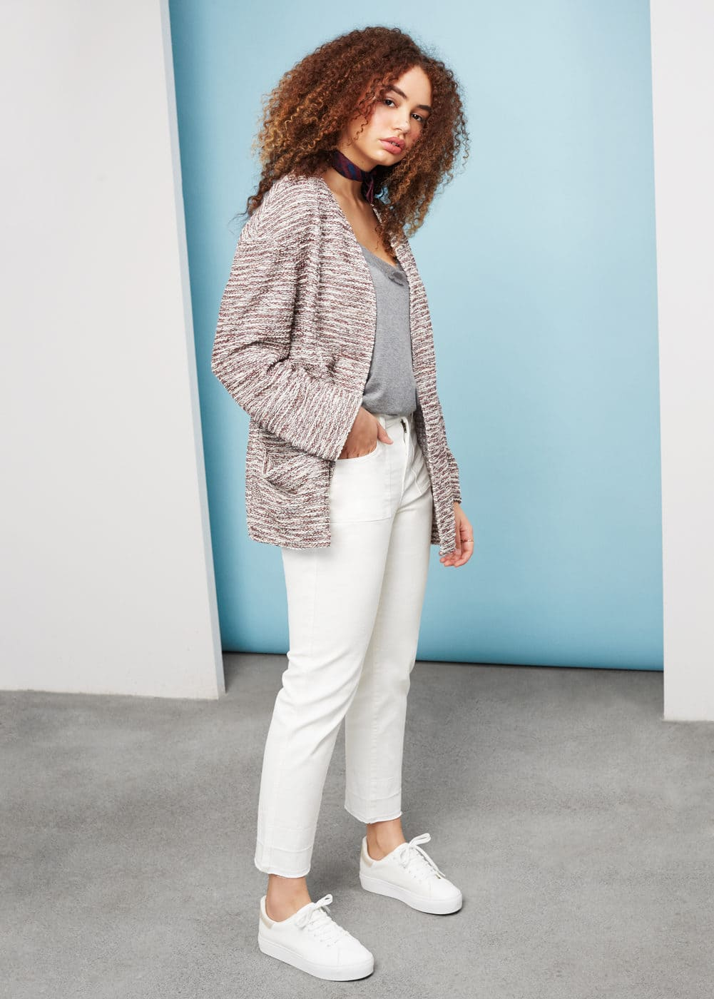 Chaqueta tweed | VIOLETA BY MANGO