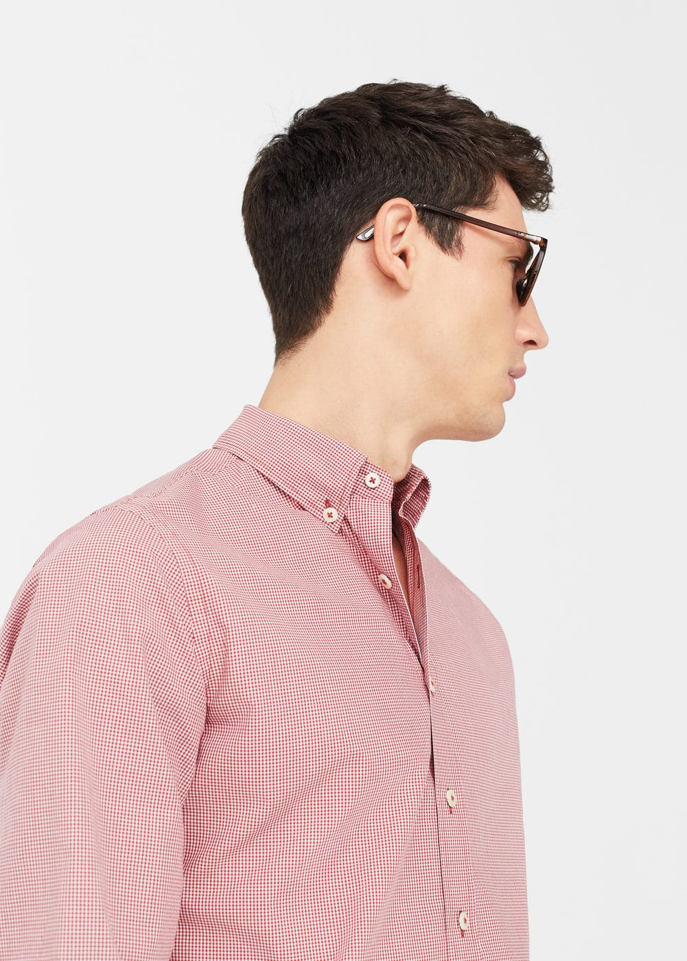 Slim-fit gingham check shirt | MANGO MAN