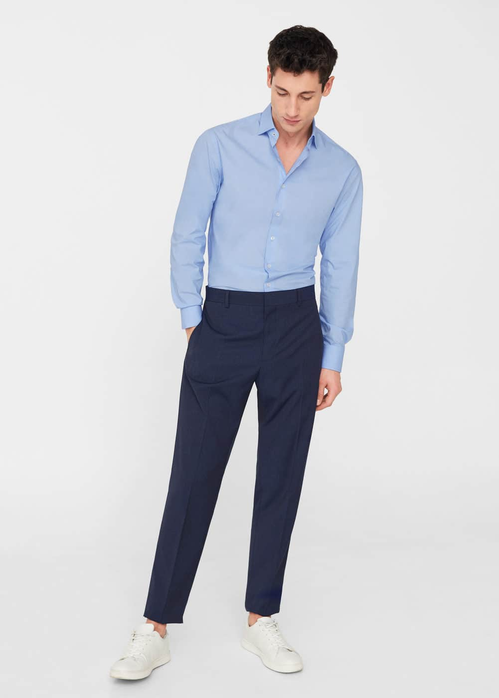 Regular-fit tailored cotton shirt | MANGO