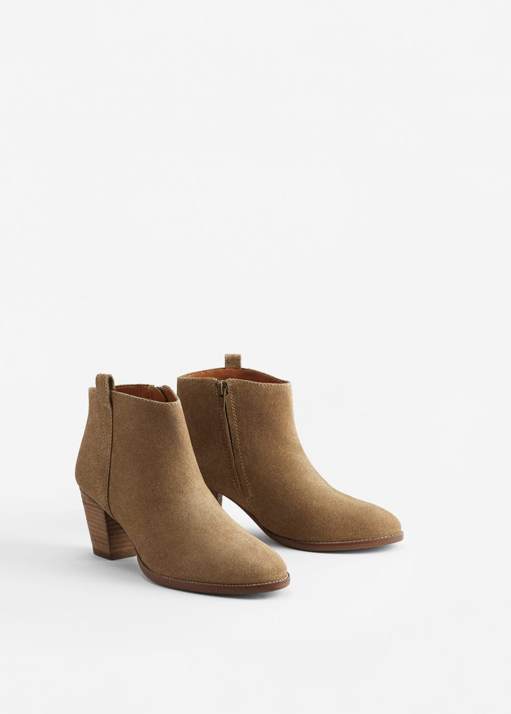 Leather western ankle boots | MANGO